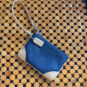 NWOT Coach wristlet 5 1/2 inches by 4 inches